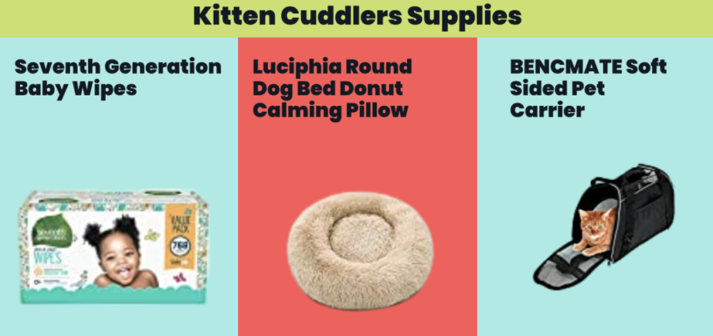 Kitten Cuddlers Supplies - FoMA Pets